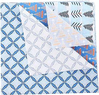 EXCEART 5 Peças de Tecido de Algodão de Natal Floco de Neve Quartos Gordos Pacote Acolchoado Costura Pano de Patchwork Pr...