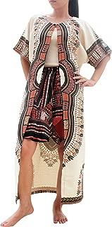 Cotton Cloak Dashiki Ladies Dress Short Sleeve