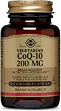 Solgar Vegetarian CoQ-10 Vegetable Capsules, 200 mg, 30 Count