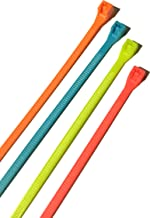 Gardner Bender 46-308FST Assorted Cable Ties, 8 inch, 75 lb, Electrical Wire and Cord Management, Nylon Zip Tie, 100 Pk, Fluorescent Blue, Green, Yellow & Pink