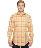Thomas Dean & Co. - Long Sleeve Hombre Plaid Sport Shirt