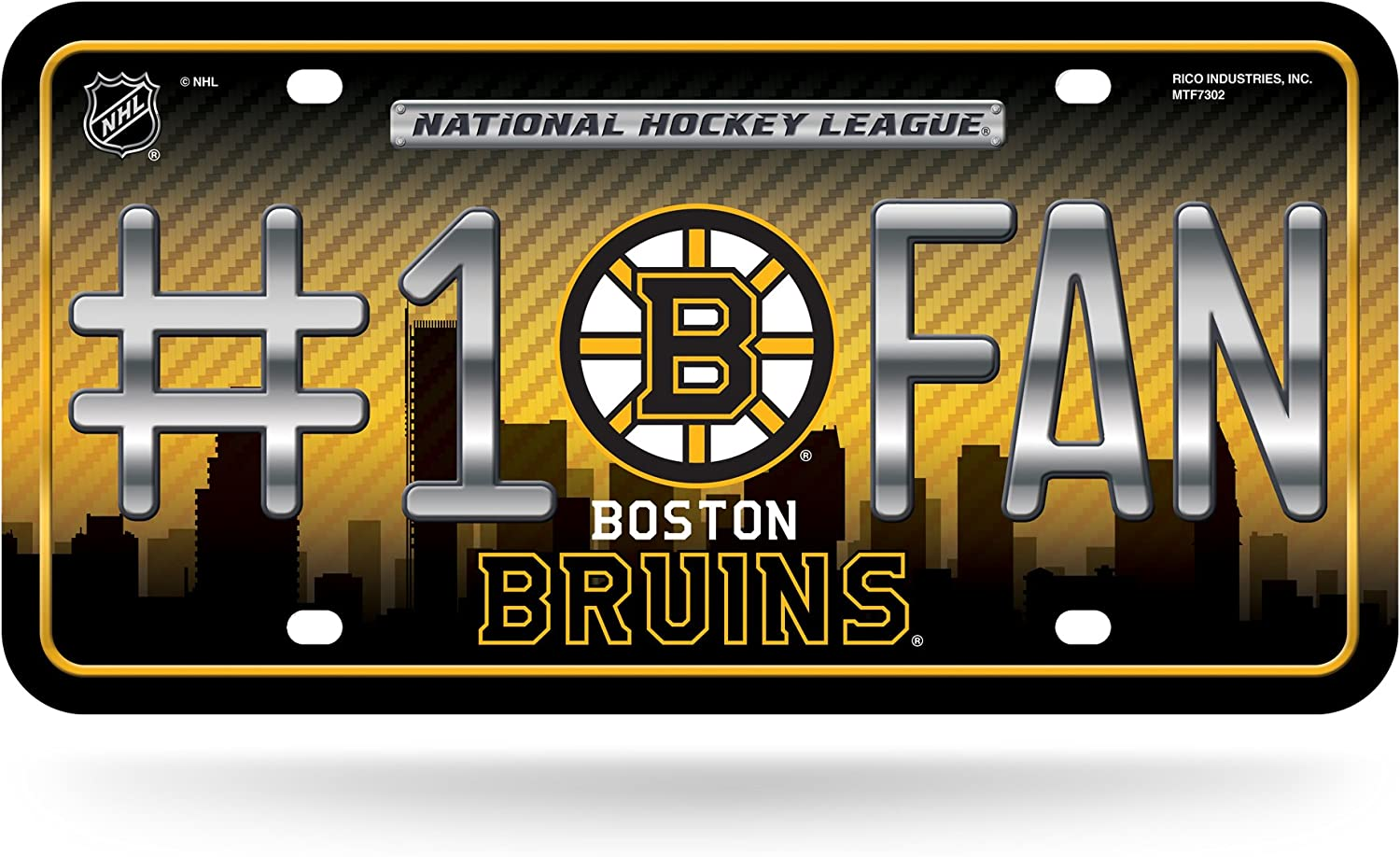 NHL Fixed price for sale #1 Fan Metal Max 61% OFF License Plate Tag