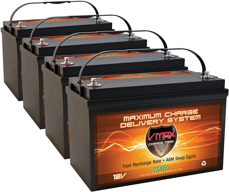 Qty 4 Vmaxtanks AGM 125ah for 500AH お気に入り Sol Total Seasonal Wrap入荷 EA