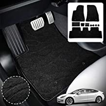 Mixsuper Rear Cargo Liner Durable Odorless All Weather 3D Trunk Floor Mat for Tesla Model X 5 Seat