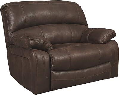 Amazon.com: Classic and Traditional Top Grain Leather Sofa ...