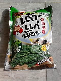 Crispy Fried Seaweed Tao Kae Noi, Pack 14g., Classic Flavor (Pack of 6)