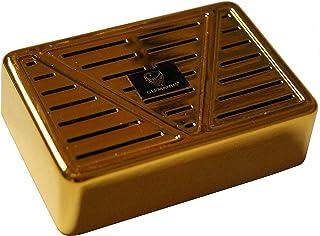 GERMANUS Luftfuktare cigarr luftfuktare, fyra, guld, med kristaller