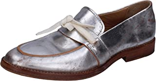 MOMA Moccasins Womens Leather Silver