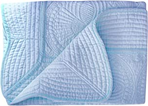 Lullaby Baby Infant Blankets All Weather Lightweight Embossed Quilt, Blue