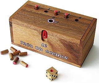 LE TROU DU COCHON ® jeu de société familial en bois massif de 2 à 6 joueurs, à partir de 4 ans, exclusivité de la marque f...