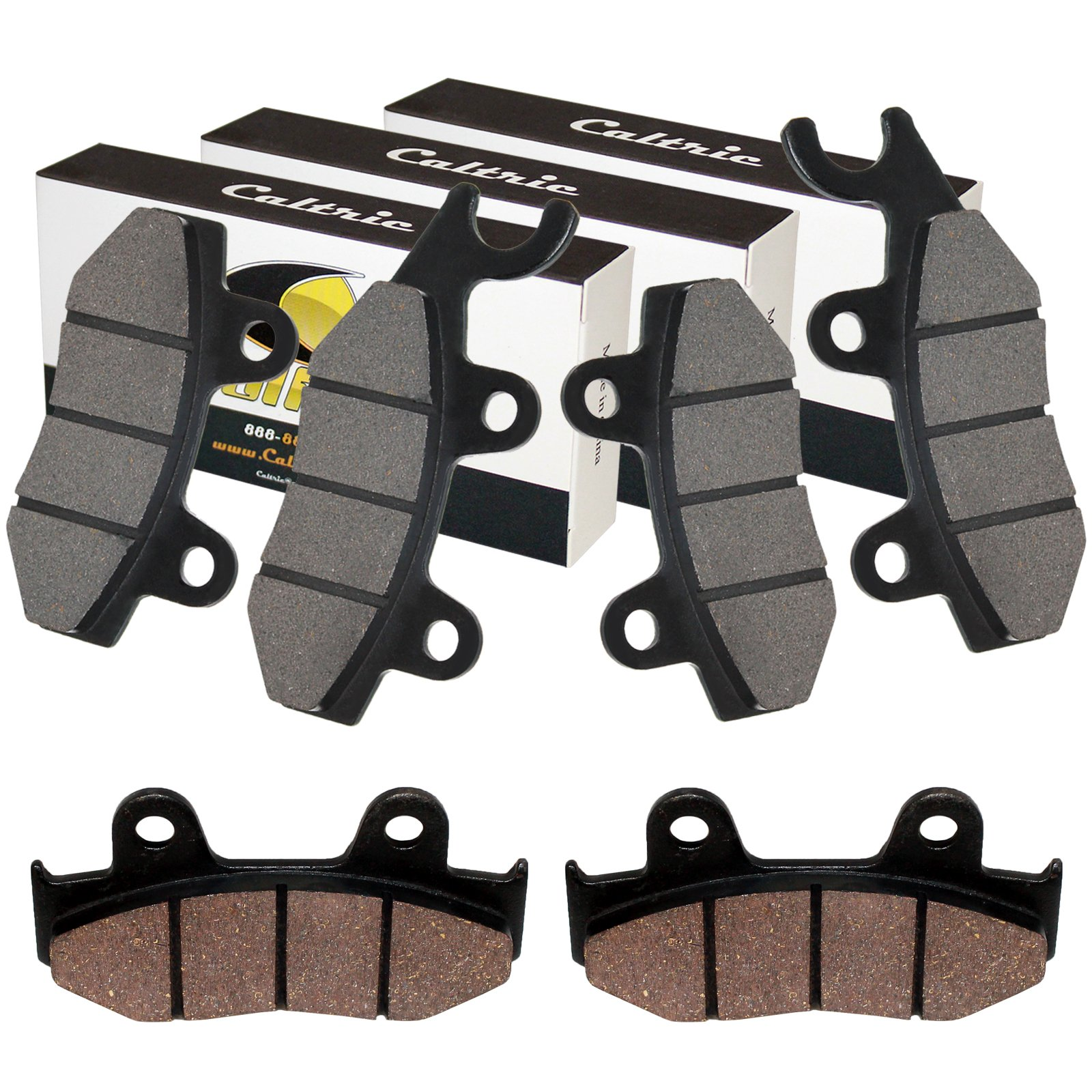 Caltric Front Rear Brake Pads Compatible With Yamaha Raptor 700 700R Yfm700R Yfm 700R 2013 2014-2017