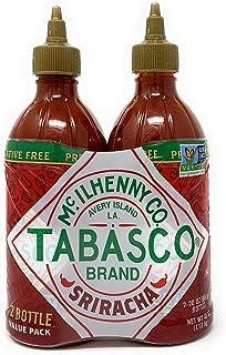 Tabasco Sriracha Sauce Value Pack 20 Ounce (Pack of 2)