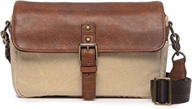 ONA - The Bowery - Camera Messenger Bag - 50/50 Natural Waxed Canvas & Antique Cognac Leather (ONA5-014NTL)