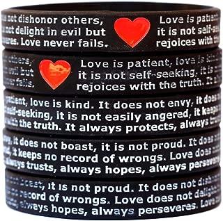 10 Love is Patient Love is Kind I Corinthians 13 Wristbands