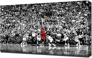 Lilarama USA 1998 NBA Finals Michael Jordan Last Shot Black And White - Canvas Art Print - Wall Art - Canvas Wrap