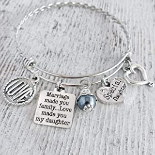 Stepdaughter Gifts, Special Daughter Bracelet, Marriage Made You Family Love Made You My Daughter
