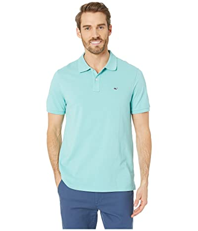 Vineyard Vines Stretch Pique Solid Polo (Andros Blue) Men