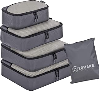 ZOMAKE 4 Set Packing Cubes,Lightweight Travel Luggage Packing Organizer Suitcase Organizers Laundry Bag