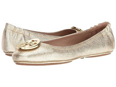 Tory Burch Minnie Travel Ballet Flat (Spark Gold) Women