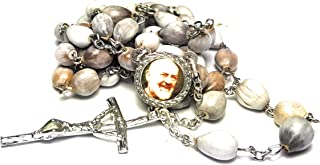 3rd Class Organic Seeds JOB's TEARS relic Rosary Saint Padre Pio Pietrelcina Stigmata Francesco Forgione Capuchin Patron of Civil Defense Volunteers Adolescents Stress Relief Italy Malta enfermos