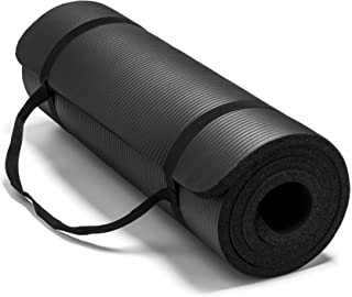 "Spoga Premium Extra Thick 72""*24"" Long High Density Exercise Yoga Mat with Comfort Foam and Carrying Straps"
