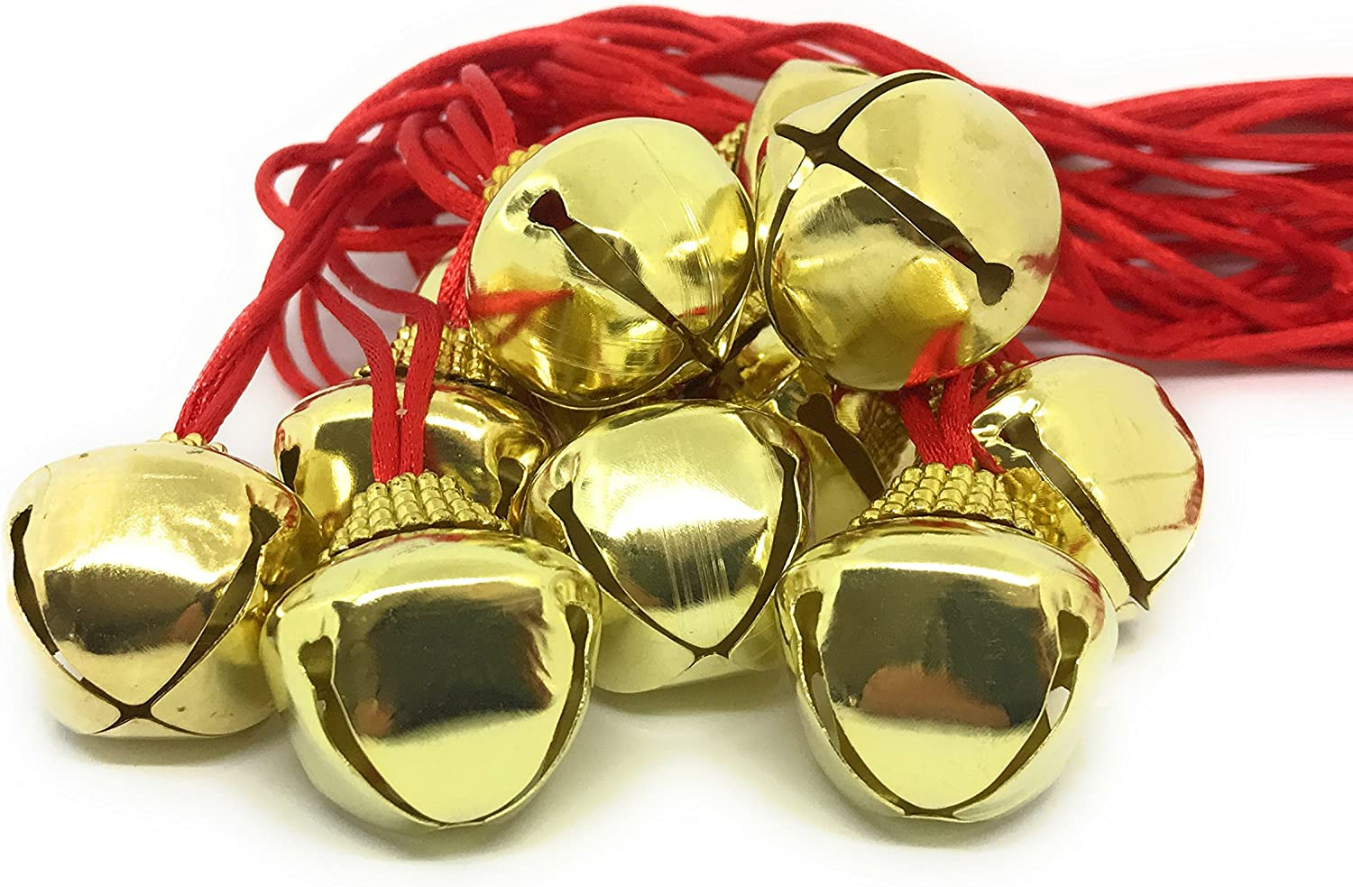 48 Bulk Courier shipping free shipping Deluxe Christmas Jingle Necklace Children's Max 46% OFF with Sa Bell