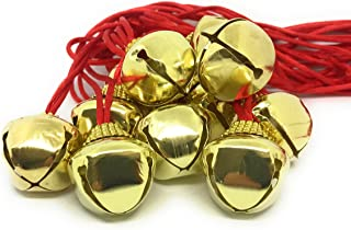 48 Bulk Deluxe Christmas Jingle Bell Necklace with Safety Clasp