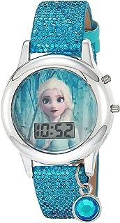 ساعة كوارتز للبنات من ديزني مع حزام مطاطي، متعدد الألوان 13 موديل FZN45004AZ)