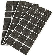 Emuca 2038816 viltglijders, vierkant, 30 x 30 mm, zelfklevend, bruin, 63 stuks