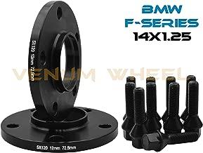 2 Pc 12 MM BMW F-Series 5x120 MM Black Hub Centric Wheel Spacers 72.56 Hub Bore W/ 14x1.25 Black Lug Bolts Fits: 2013-2017 228 320 328 GT X Drive 335 GT 428 435 528 550 640 740 750 760 M3 M4 M5 M6