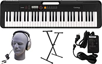 Casio CT-S200BK 61-Key Premium Keyboard Pack with Stand, Hea