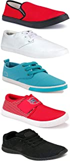 WORLD WEAR FOOTWEAR Sports Running Shoes/Casual/Sneakers/Loafers Shoes for MenMulticolors (Combo-(5)-1219-1221-1140-749-1024)
