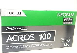 Fujifilm 102918 NEOPAN ACROS 100 Black and White Negative Film, ISO 100 120 - 5 Pack