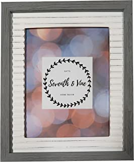 Gray Weathered Wood and White Distressed Metal Rustic Farmhouse Photo Frame, 8x10, Wall Mount or Tabletop Display