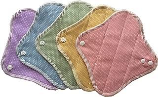 すぃーと・こっとん 布製おりものシート 布ナプキン オーガニックニットライナー (パステルライナー)5枚組