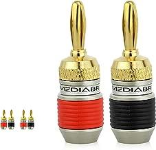 Mediabridge Banana Plugs - Corrosion-Resistant 24K Gold-Plated Connectors - 2 Pair/4 Banana Plugs (Part# SPC-BP2-2)