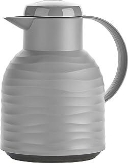 Emsa Samba termos (1 litr, zamknięcie typu Quick Press, utrzymywanie gorąca 12 h, utrzymywania zimna 24 h) Stone