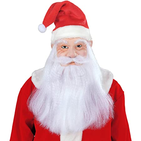Details about  /Professional Santa Claus Father Christmas Wig Beard Mustashe Eyebrows UK Seller