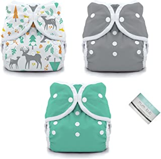 Thirsties Duo Wrap Snaps Diaper Covers 3 pack Combo: Fin, Moss Green, Woodland Sz 1