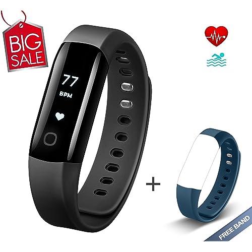 Muzili Monitor de Actividad Vigorun4 Reloj Deportivo Impermeable Podómetro  Pulsera Inteligente con Monitor de Ritmo Cardíaco f084875cd245