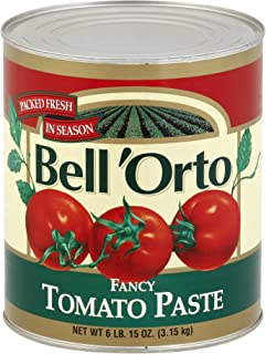 Bell'Orto Fancy Tomato Paste (6.15 lbs Cans, Pack of 6)