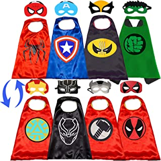 Superhero Cape and mask for Kids Superhero Toys for Boys -Superhero Dress Up Superhero Costumes 4-10 Year Old Kids Gifts