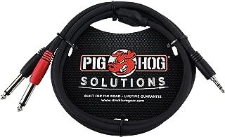Pig Hog PB-S3410 3.5 mm Stereo to Dual 1/4