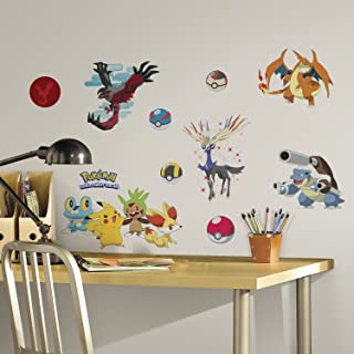 RoomMates Pokemon XY Peel And Stick Wall Decals – RMK2625SCS, Multi