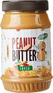 Happilo Super Crunchy Peanut Butter (High Protein, Non-GMO, Gluten Free, Vegan) Bottle, 1 kg