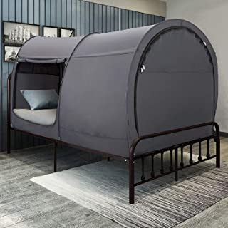 Leedor Bed Tent Dream Tents Bed Canopy Shelter Cabin Indoor Privacy Pop Up Warm Breathable Twin Size for Kids and Adult Patent Pending (Mattress Not Included)