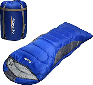 0 Degree Winter Sleeping Bags for Adults Camping (350GSM) - Temp Range (5F–32F) Portable Waterproof Compression Sack- Camp...