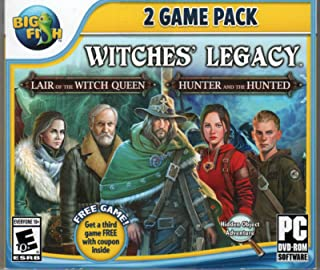 Witches Legacy LAIR OF THE WITCH QUEEN + HUNTER & THE HUNTED Hidden Object PC Game