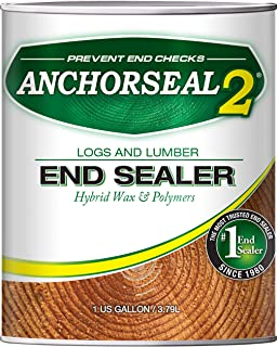 ANCHORSEAL 2 Hybrid Log & Lumber end Grain Sealer - Water-Based Wax & Polymer Prevents up to 90% of end Checking (Drying S...