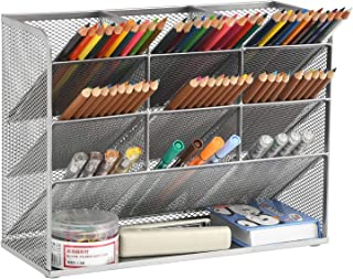 Marbrasse Mesh Desk Organizer, Multi-Functional Pen Holder, Pen Organizer for desk, Desktop Stationary Organizer, Storage ...